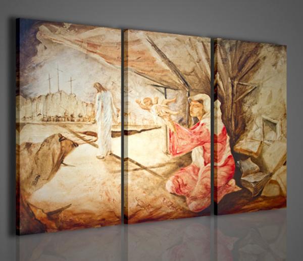 Quadri moderni quadri religiosi il santo padre stampe su tela quadri moderni per arredamento - Quadri arredamento casa ...