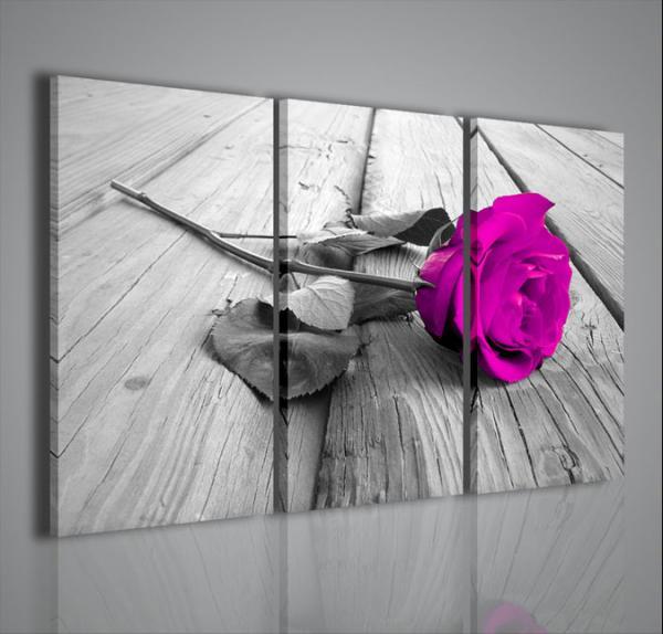 Quadri moderni quadri fiori e piante violet rose stampe for Stampe da parete