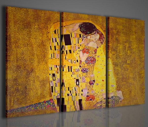 Quadri Moderni-Quadri Pittori Famosi-Klimt I Il Bacio | Stampe su ...