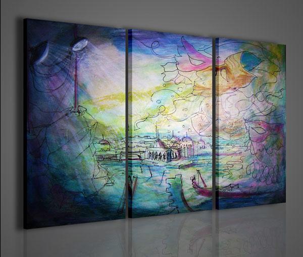 Quadri moderni quadri astratti venezia stampe su tela for Stampe quadri astratti