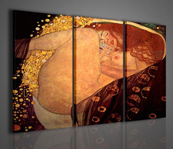 Quadri moderni quadri pittori famosi klimt vi danae for Stampe arredo casa
