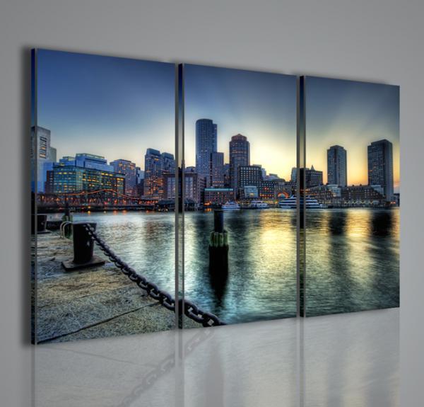 Quadri moderni quadri di citt boston city ii stampe su for Arredamento moderno on line
