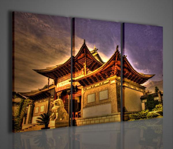 Quadri moderni quadri di citt architettura cinese for Stampe arredo casa