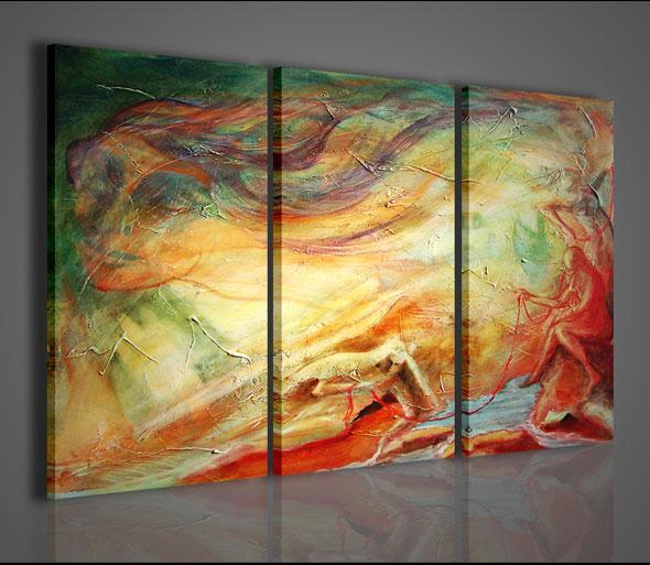 Quadri moderni quadri astratti river side stampe su tela for Stampe quadri astratti