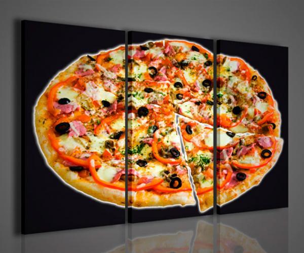 Quadri moderni quadri food drink pizza stampe su tela for Arredare pizzeria