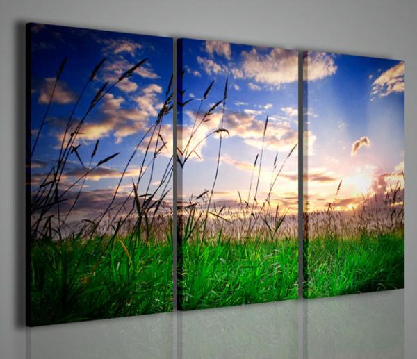 Quadri moderni quadri di natura e paesaggi tramonto su for Stampe arredo casa