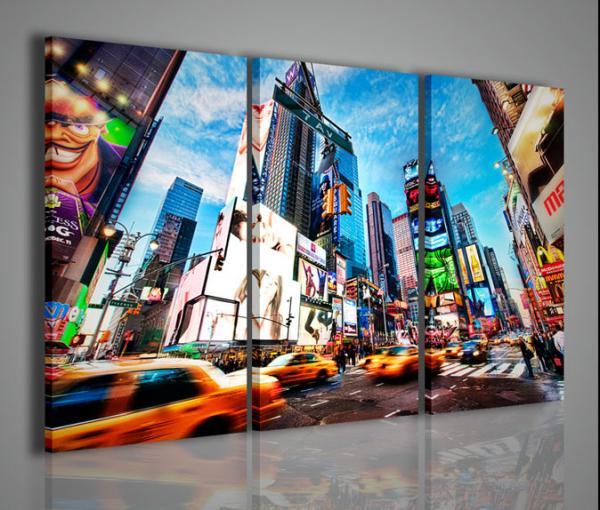 Quadri moderni quadri di citt new york times square iv for Quadri particolari per arredamento