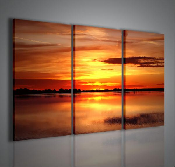 Quadri moderni quadri di natura e paesaggi camargue ii stampe su tela quadri moderni per - Quadri arredamento casa ...