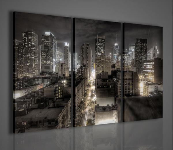 Quadri moderni quadri di citt new york city stampe su for Quadri per soggiorni moderni