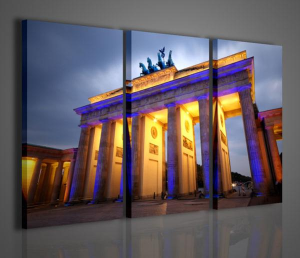 Quadri moderni quadri di citt branderburger tor berlino for Stampe arredo casa