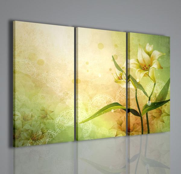 Quadri moderni quadri fiori e piante vector flower - Quadri arredamento casa ...
