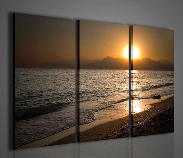 Quadri moderni quadri di natura e paesaggi tramonto ii for Stampe arredo casa