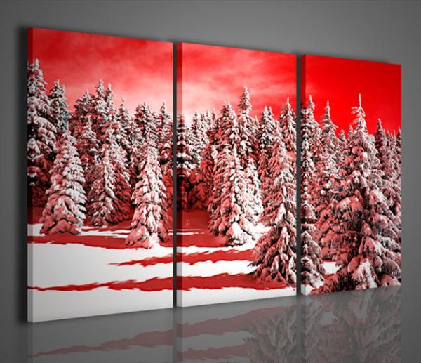 Quadri moderni quadri di natura e paesaggi snow forest for Quadri parete soggiorno