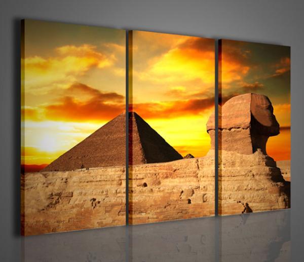 Quadri moderni quadri etnici pyramid stampe su tela for Stampe arredo casa