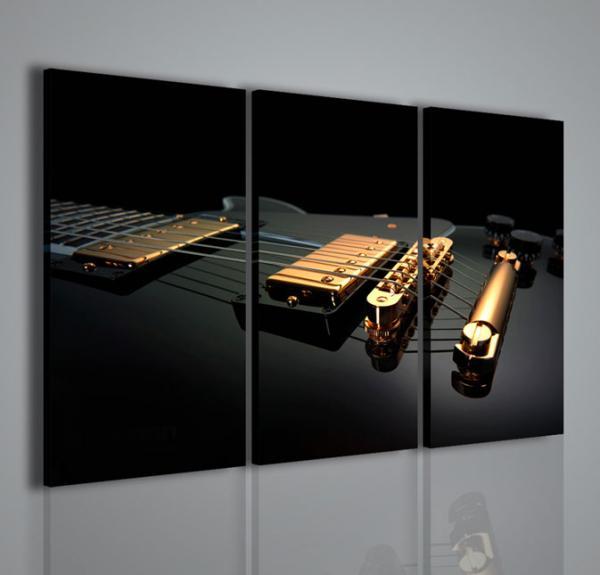 Quadri moderni quadri musica electric guitar ii stampe for Stampe arredo casa