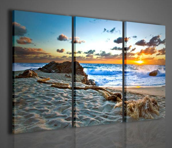 Quadri moderni quadri di natura e paesaggi tramonto a for Arredamento natura