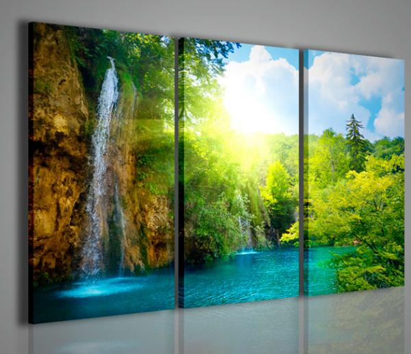 Quadri moderni quadri di natura e paesaggi waterfall i for Pittori astratti moderni